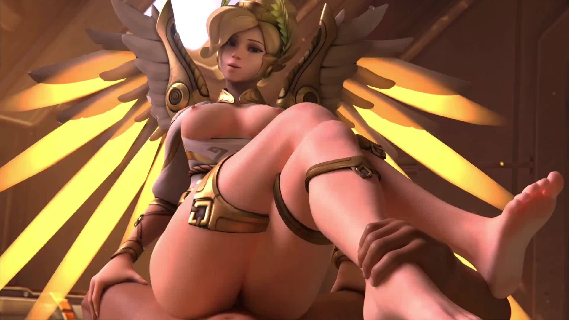 Mercy winged victory from behind blender animation overwatch