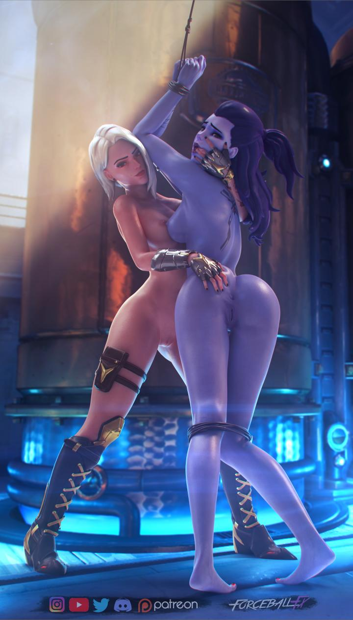 Overwatch ashe getting threesome sex and anal