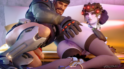 Widowmaker gets creampied without permission